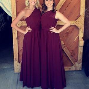 maroon/burgundy formal/bridesmaid dress